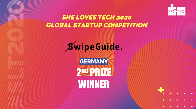 SwipeGuide wins 2nd prize in She Loves Tech 2020