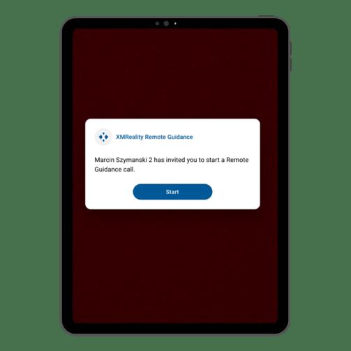Tablet Remote Support Start